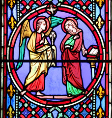 Annunciation (Eugene Oudinot of Paris, 1859)