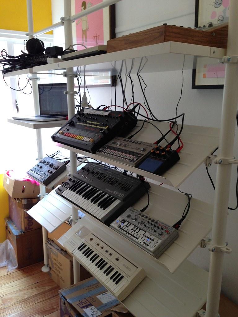 Ikea Stolmen Synth Rack Studio Flickr