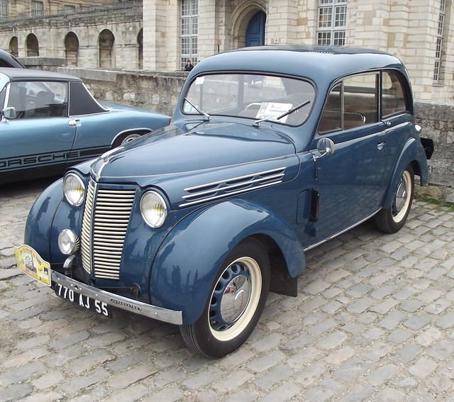 The Renault Juvaquatre Is A Small Family Car / Compact Car