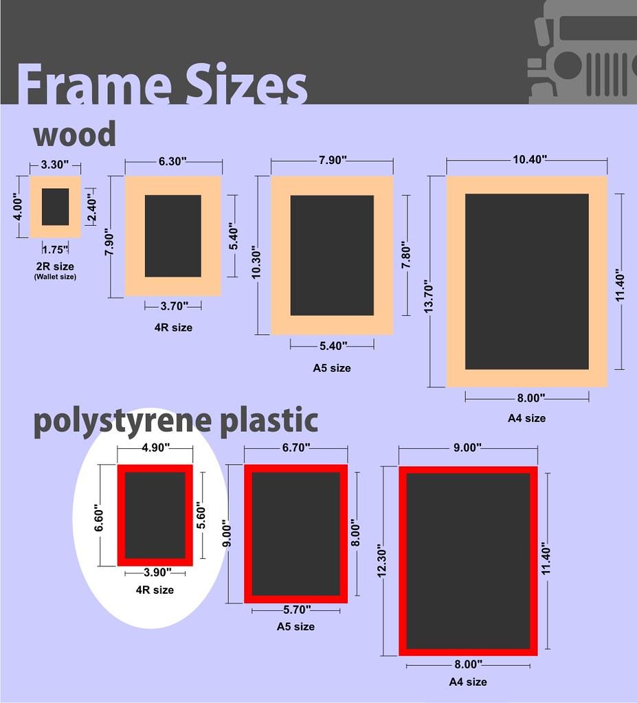 photo frame sizes 4r plastic by photojeepney