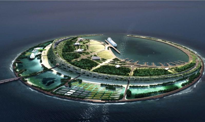 Искусственный остров в Китае