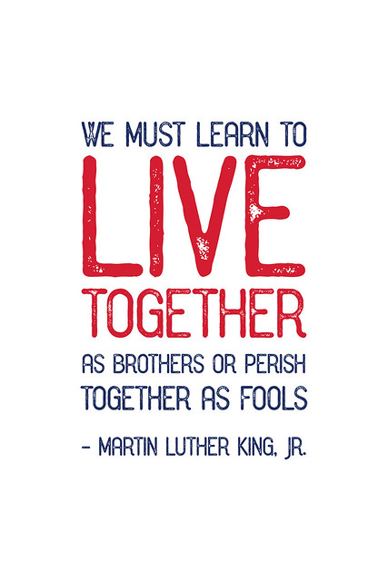 We must learn to live together
