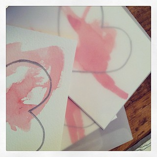 Joint effort. #valentines #lifewithkids #watercolor | by kflaim