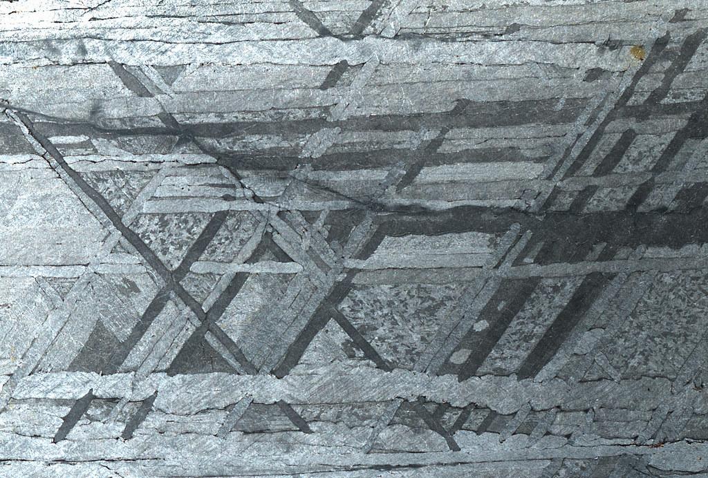 Meteorite Slice Showing Widmanstätten Pattern This Macro S Flickr Adorable Widmanstatten Pattern