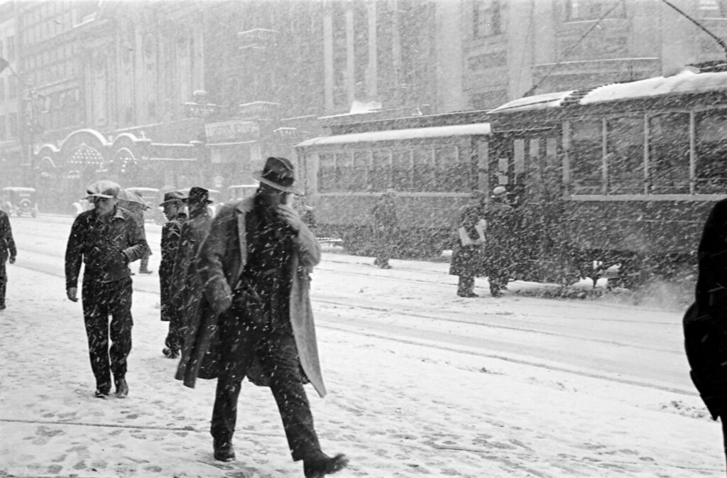 [Hastings Street in a snow storm] | Reference code: AM640 ...