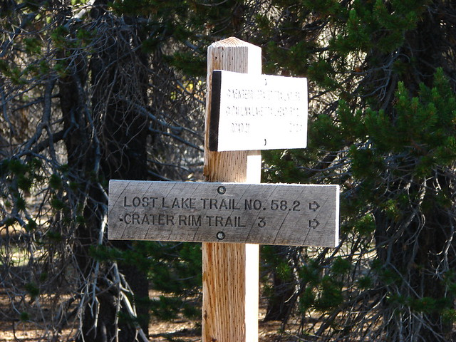 Lost Lake Trail sign