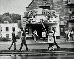 100 Hour Picket at the Hiser Theater in Bethesda, MD: 1960