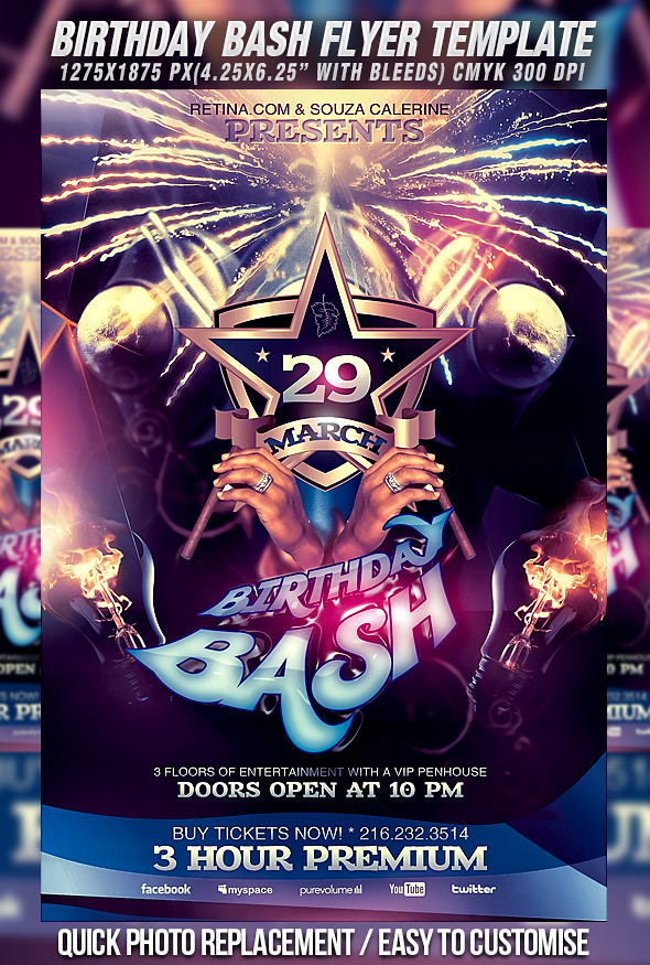 PSD Birthday Bash Flyer Template   DOWNLOAD FULLY EDITABLE P…   Flickr