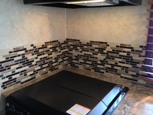 new faux glass backsplash smart tiles from home depot