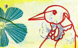 bird mail art | by Gallery Juana, Juana Almaguer