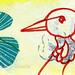 bird mail art