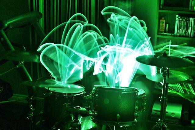 Glow in the dark drum sticks | Flickr - Photo Sharing!