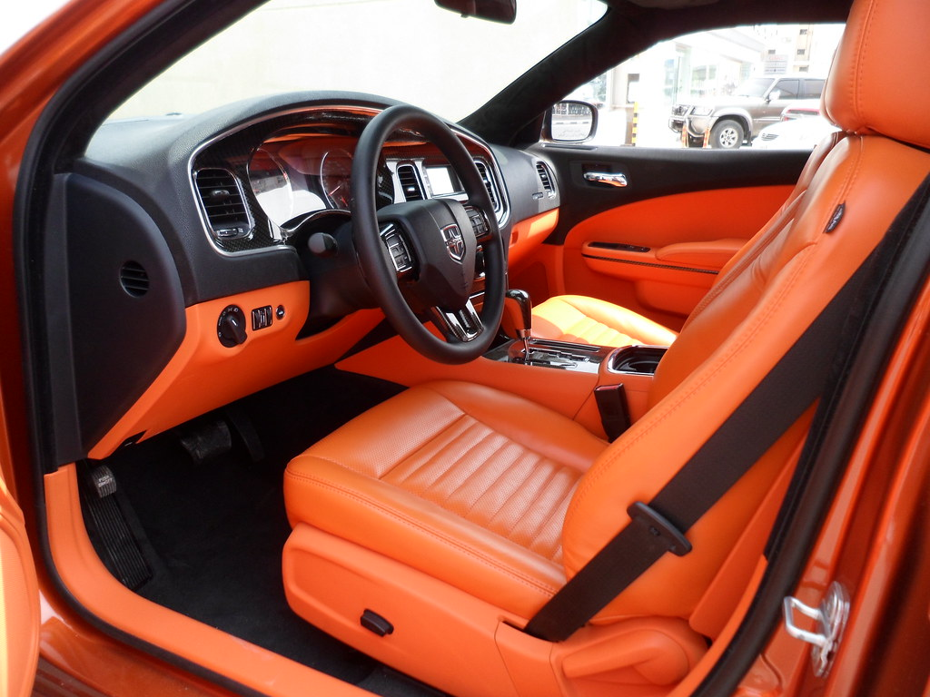 dodge charger 2012 interior orange colors customized at cr flickr. Black Bedroom Furniture Sets. Home Design Ideas