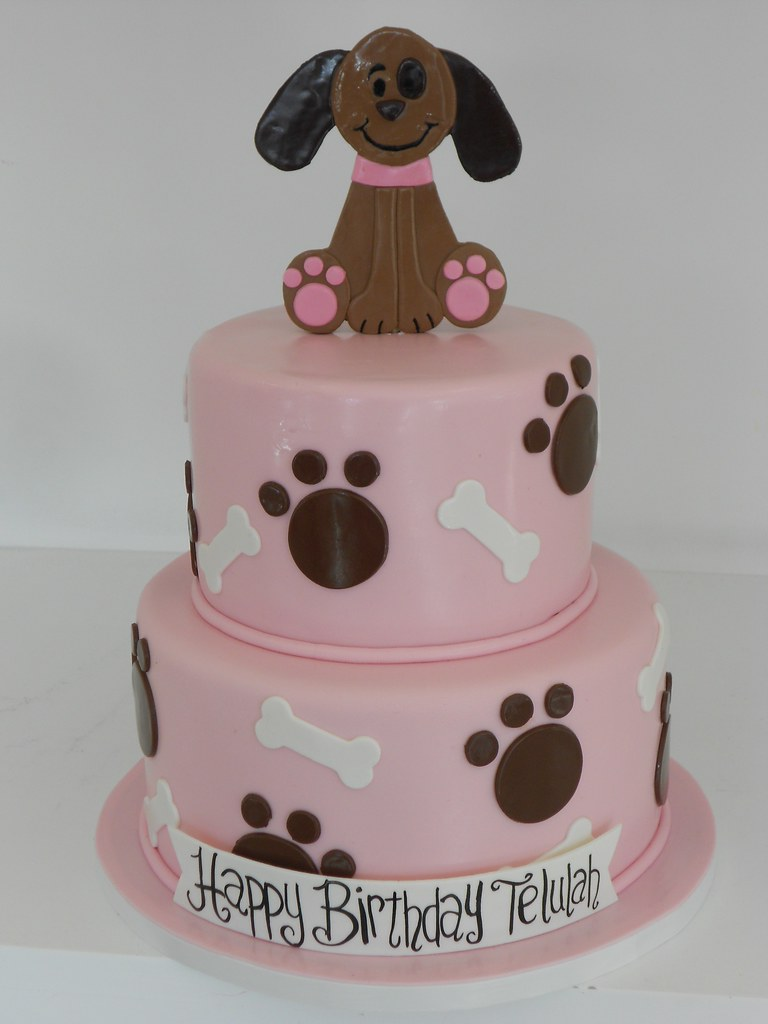dog bday cake girly puppy cake 016 www asweetdesign info 818 363 3639