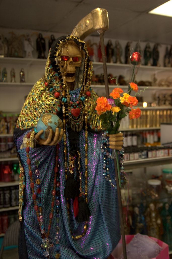 Santa Muerte Statue in...