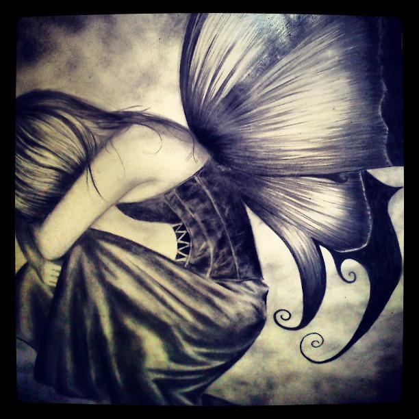 Hada a lpiz pencildraw pencil lpiz hada Fairy Alas  Flickr