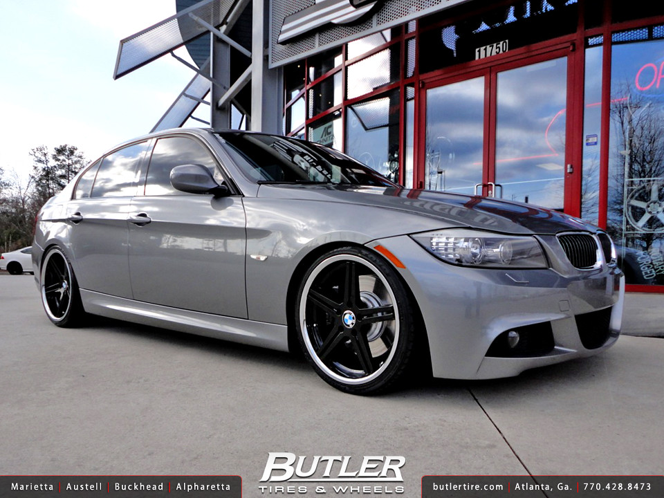 Bmw E90 335i With 19in Tsw Mirabeau Wheels Additional