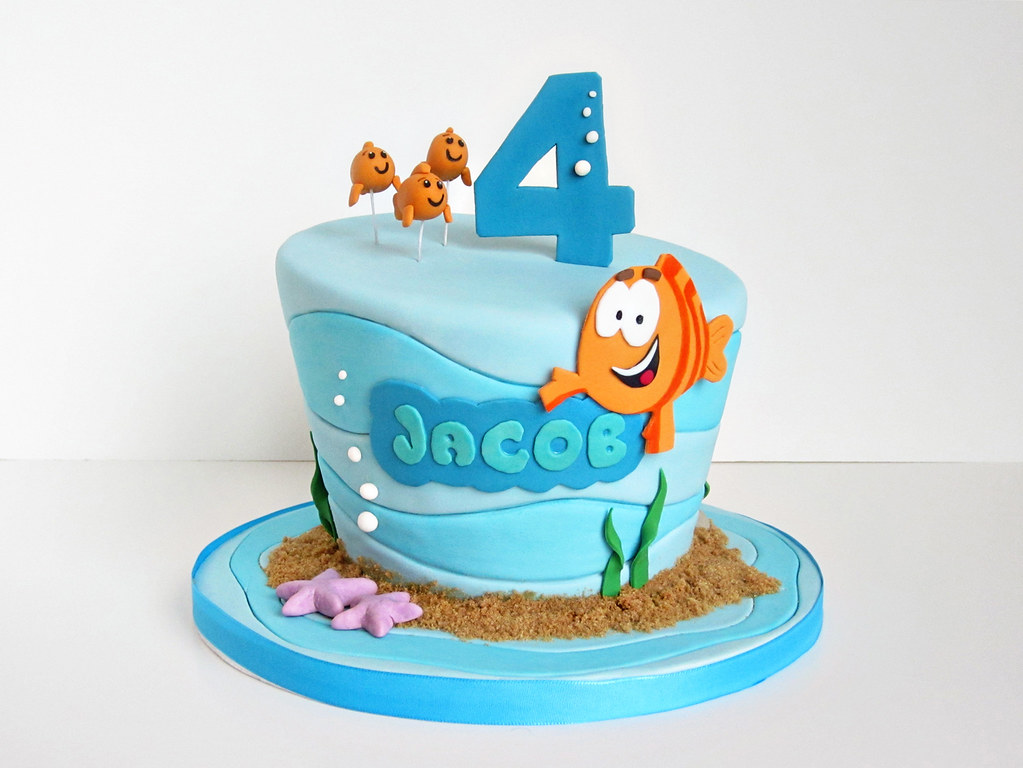 Jacob's Bubble Guppies Cake | It's Bubble Guppies! Having ...