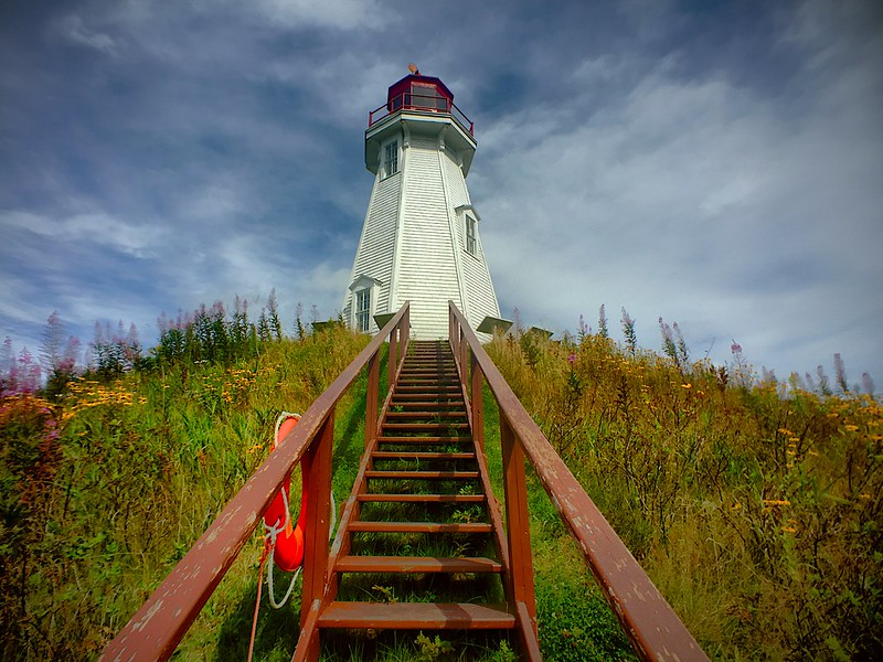 mulholland point lighthouse. campobello island, new brunswick, canada. I.