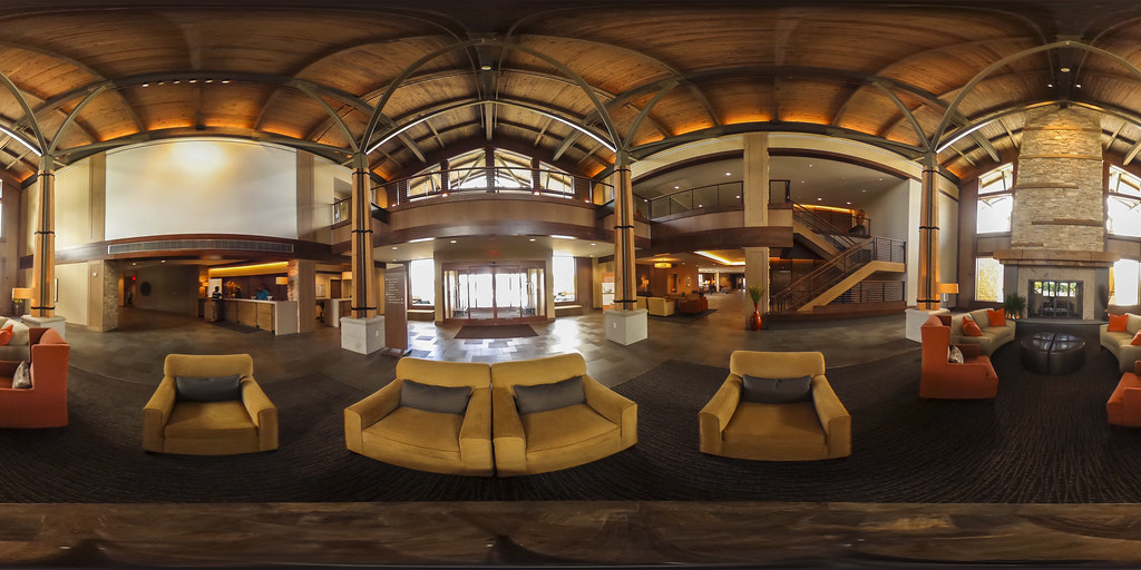 Image: 360-degree image of the Highland Lodge Lobby