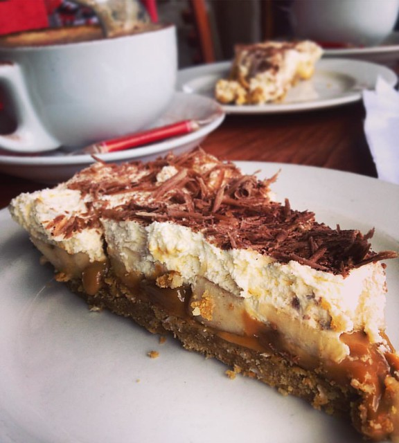 Banoffee Pie, at 'Crafts and Things' tearoom, Glen Coe village   #craftsandthings #glencoevillage #scottishhighlands #scotland