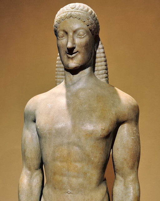 the kouros and kore statues the sculptures that dominated the archaic greek art The female counterpart of the kouros is the kore, the draped standing female figurethe kore explores the relationship between garment and body, moving from complete obscuring of anatomy.
