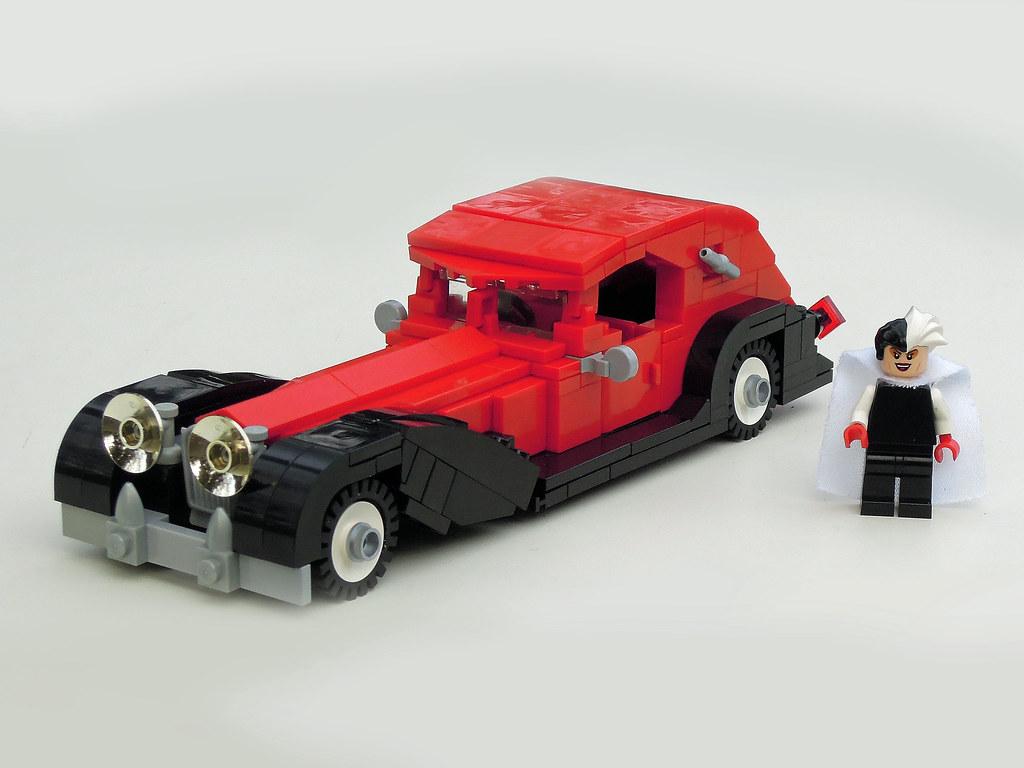 Cruella de Vil's LEGO Car | The classic Disney car from ... Cruella Deville Car Disney