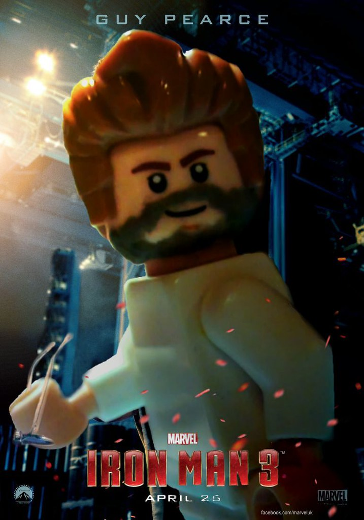 Lego iron man 3 poster guy pearce unofficial a quick - Lego iron man 3 ...