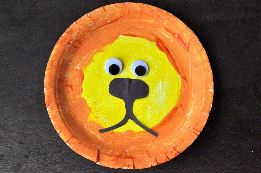 Lion Arts And Crafts Paper Plate