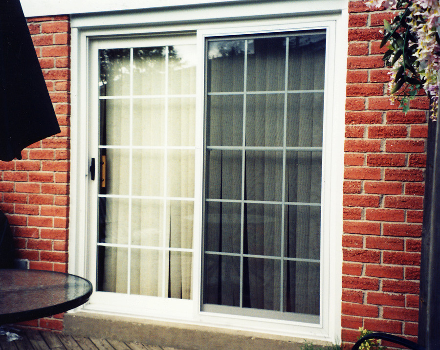 Patio doors replacement vinyl sliding patio door flickr for Patio doors with side windows