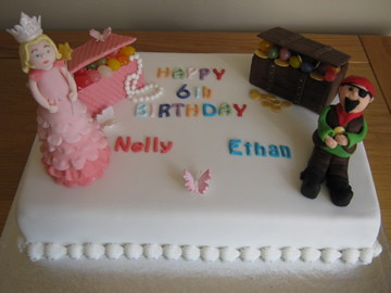 Joint Birthday Cake Pirates