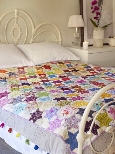 EPP 60 degree diamond star quilt | by Stitchliterate