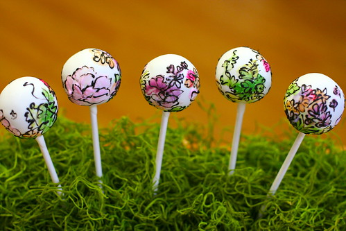Watercolor Themed Cake Pops | by Sweet Lauren Cakes