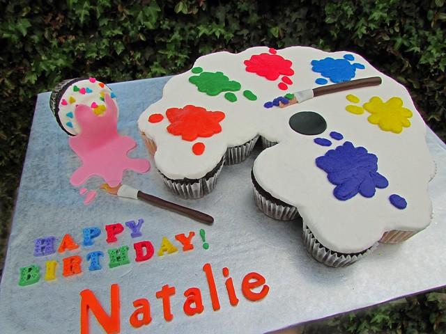paint palette pull apart cake