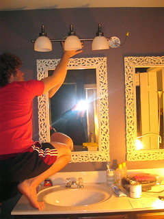 testing out bathroom lights | by thevitas