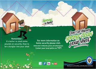 Don't let thieves spring clean your shed | by West Midlands Police