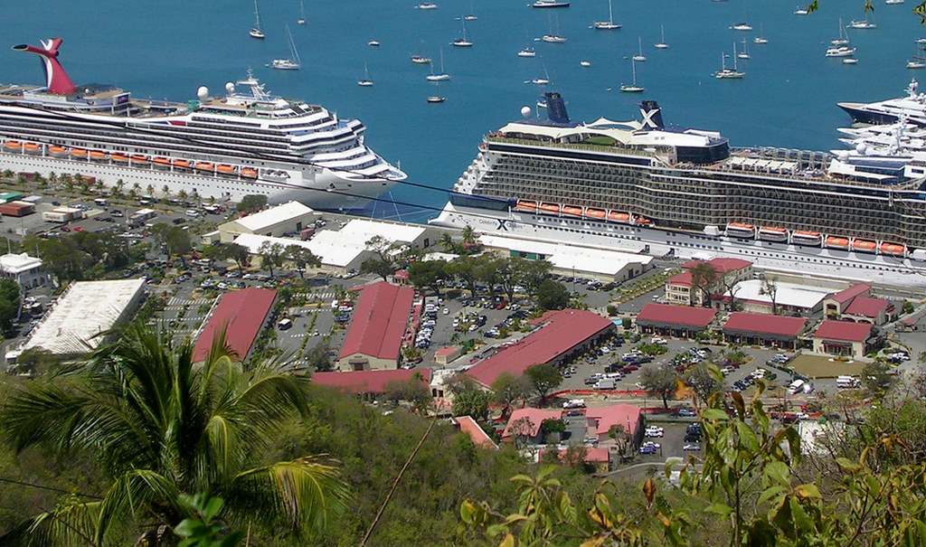St Thomas Havensight Mall From Paradise Point