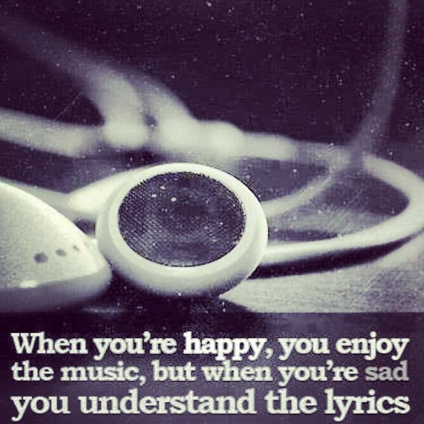 Music Happy Sad Enjoy Mood Earphones Black White Flickr