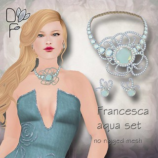 FRANCESCA aqua set | by Donna Flora