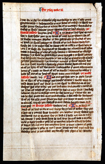 Lectionary, Middle English. England, fifteenth century