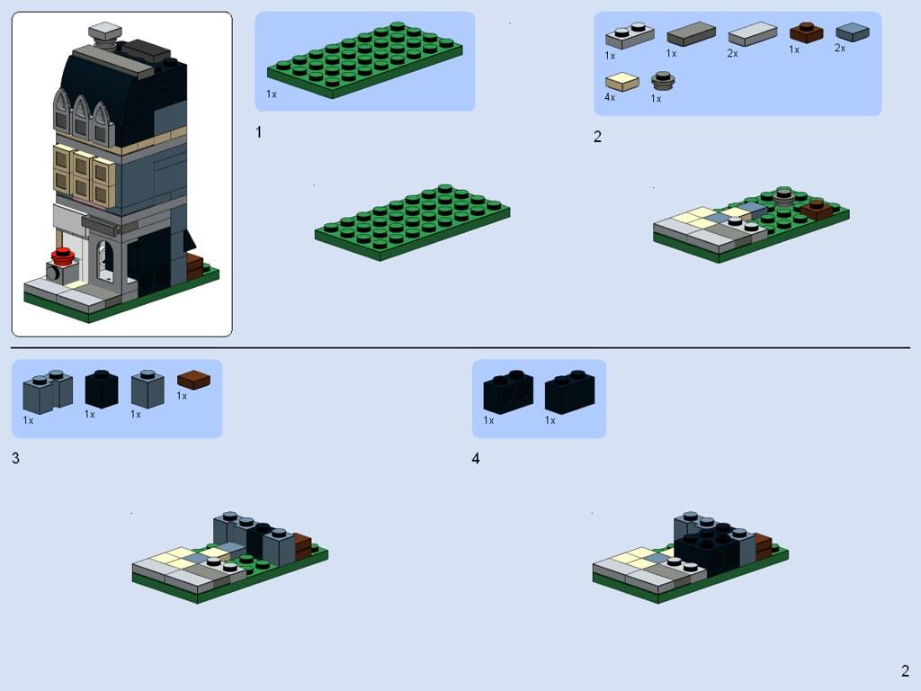 Lego Mini Modular Pet Shop Instructions After Many Request Flickr