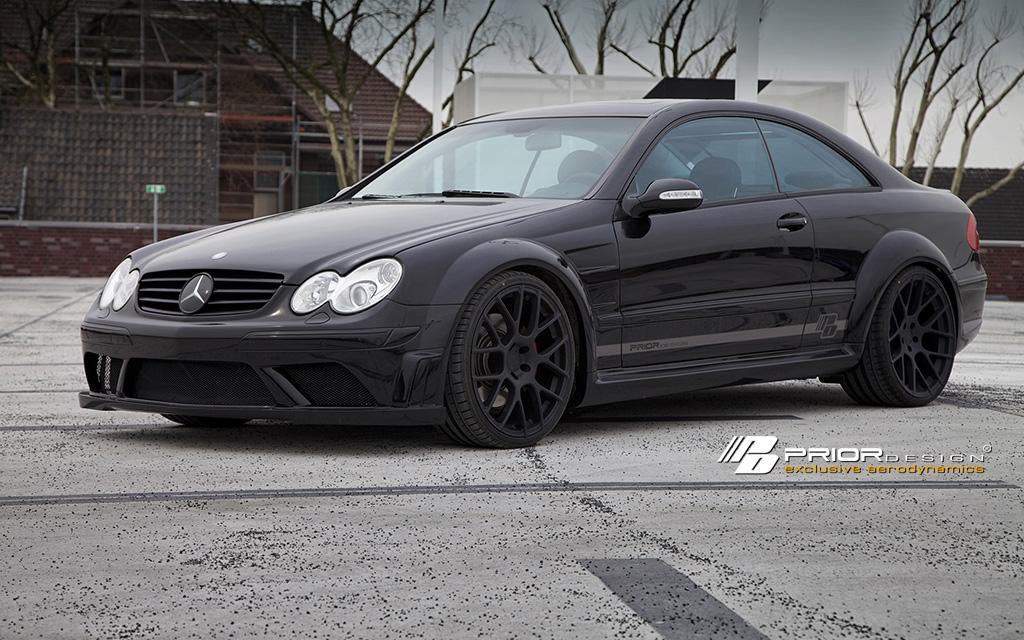 Mercedes clk w209 black series wide body conversion kit for Mercedes benz clk black series body kit