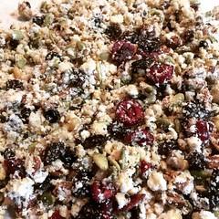 batch of okara granola cooling❤︎ #okara #granola #osaka #japan #おからグラノラ #大阪