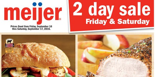 Meijer Two Day Sale September 16