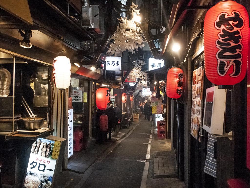 Shinjuku Yakitori Alley Near Shinjuku Station Flickr