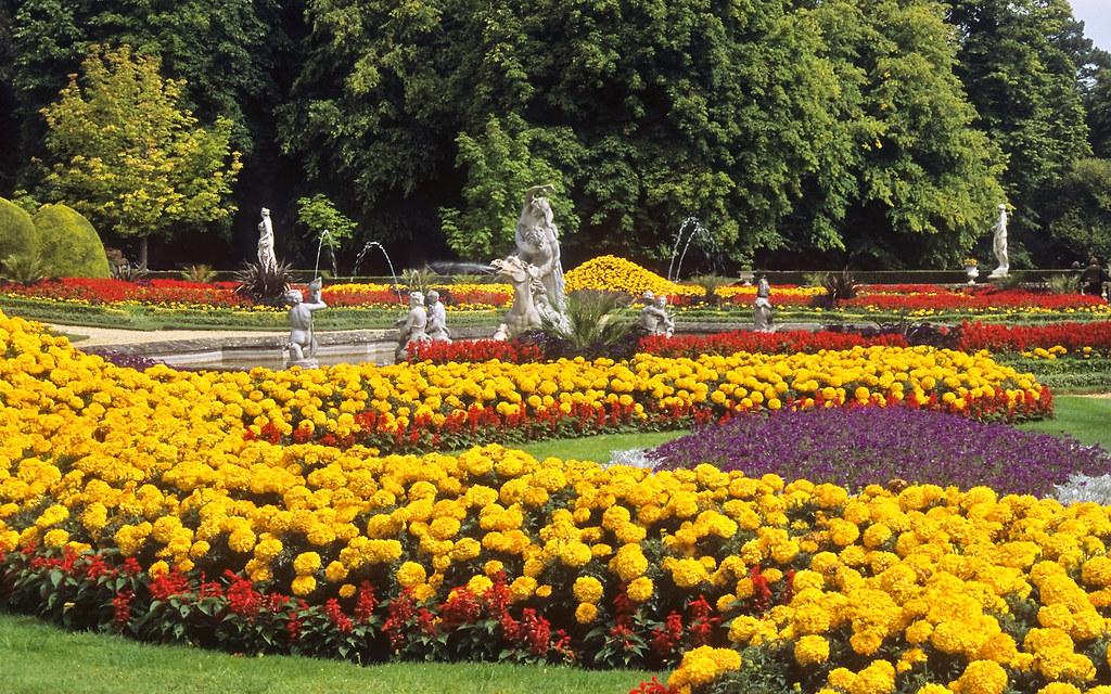 Waddesdon Manor Gardens Buckinghamshire England Red Sa