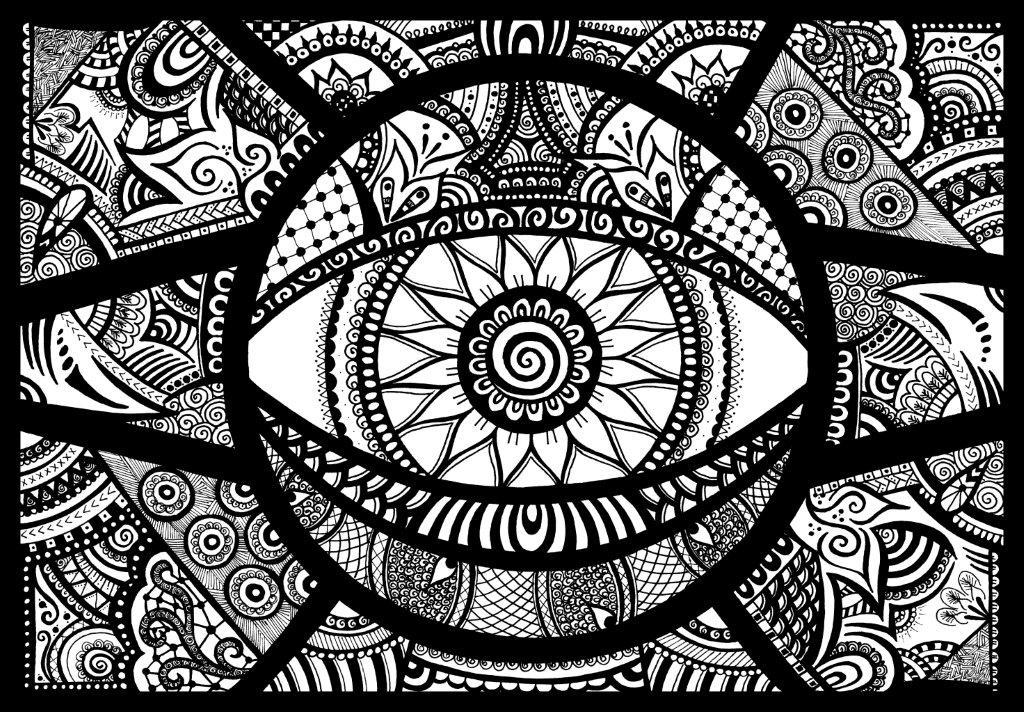 Hypnotica | Original fineliner doodle art zentangle design ...