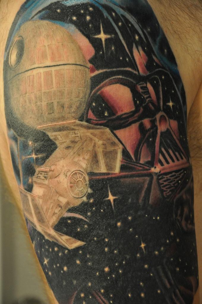 Star wars tattoo star wars tattoo darth vader tie for Empire ink tattoo
