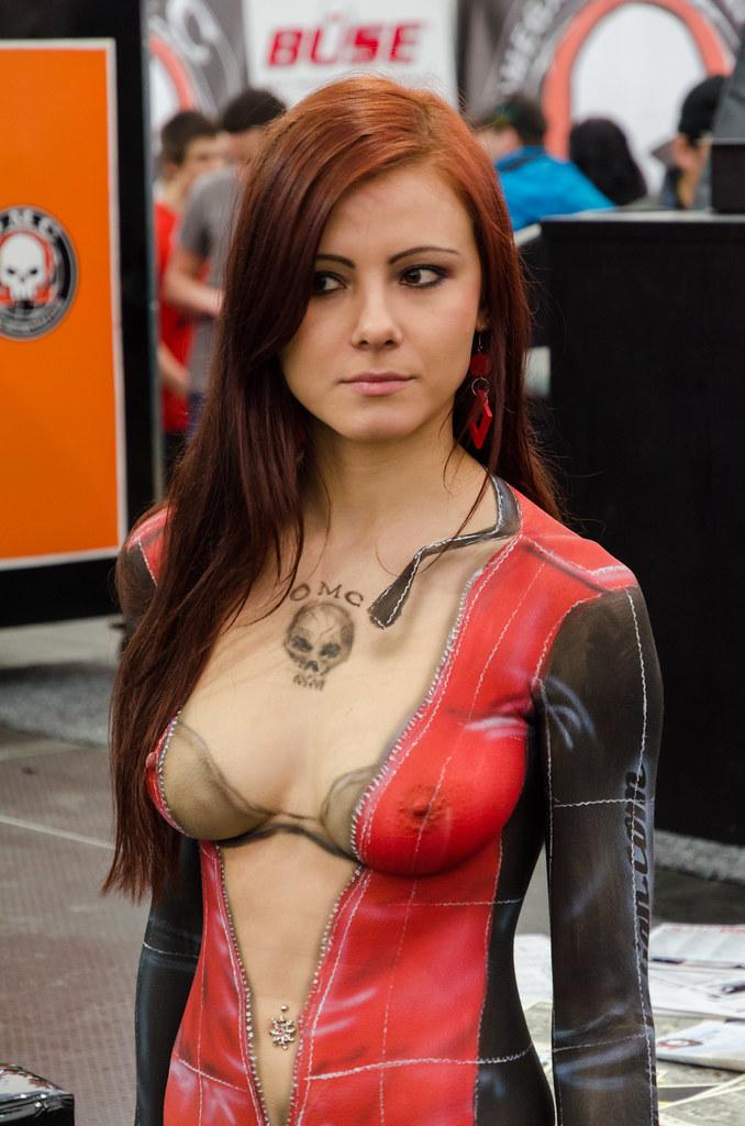 Body Paint Female In Public