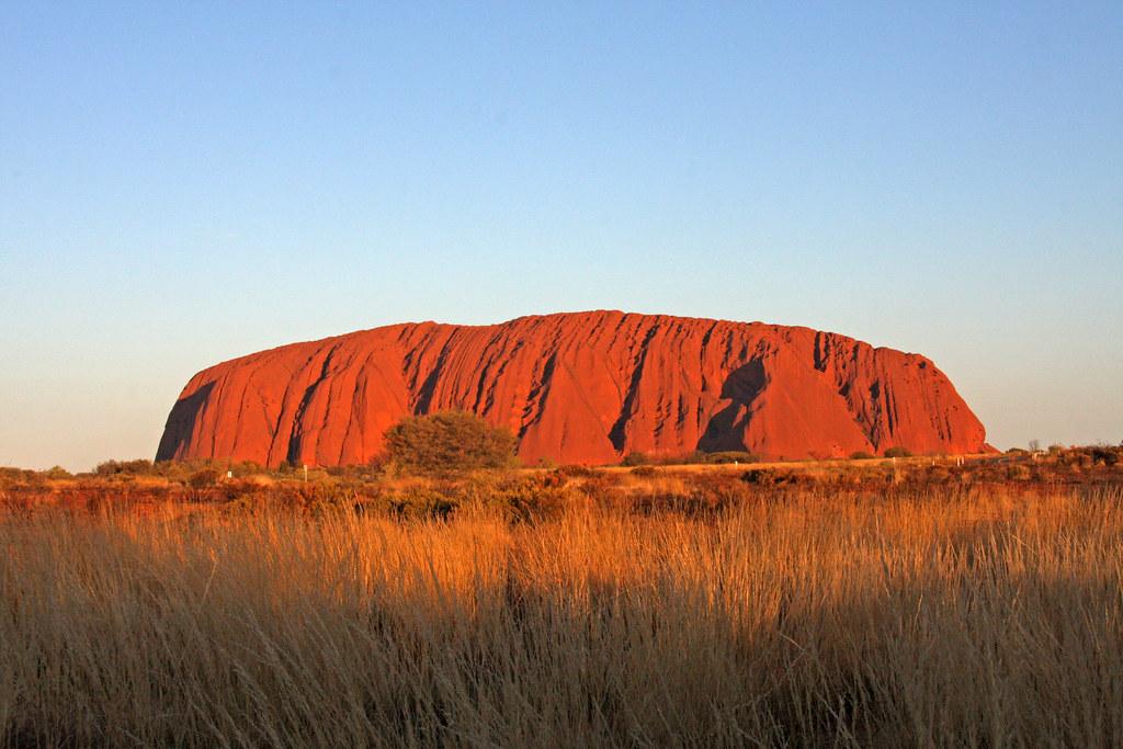 Uluru at sunset | Ayers Rock - Uluru - Australia is a rock ...